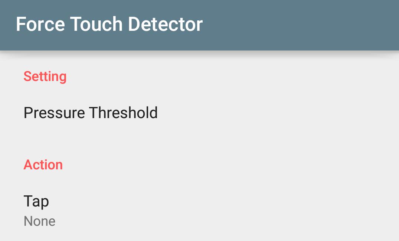 指の腹タップで好きな操作を! Force Touch Detector