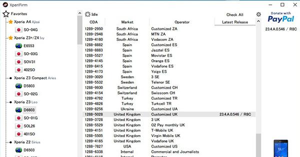 XperiFirm v4.7.4、ファイル手動削除が必要に
