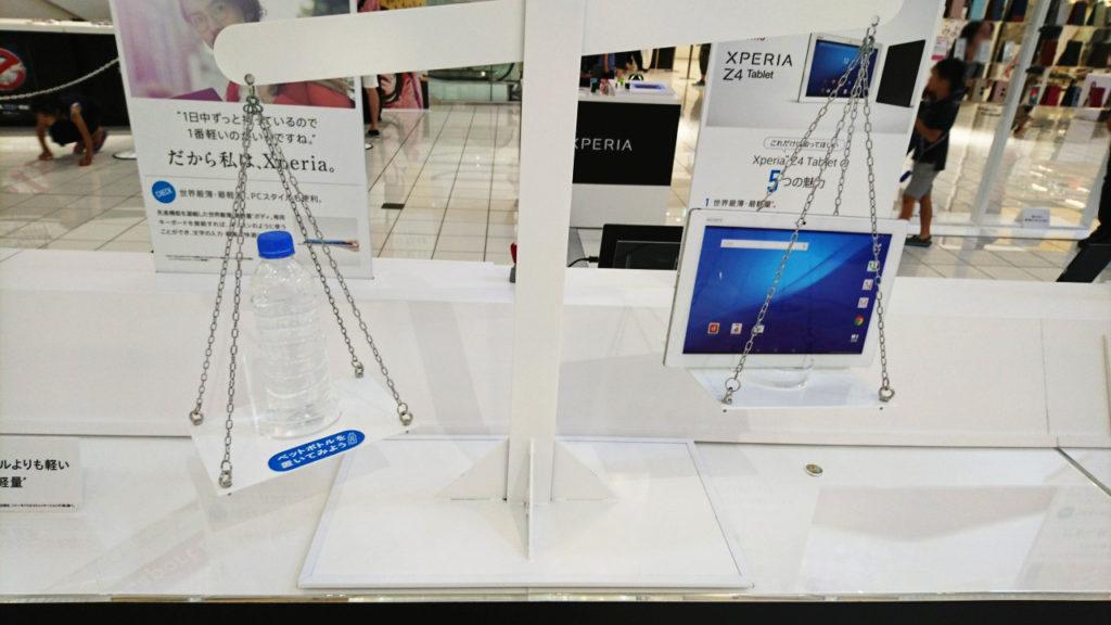 ペットボトルより軽いXperia Z4 Tablet