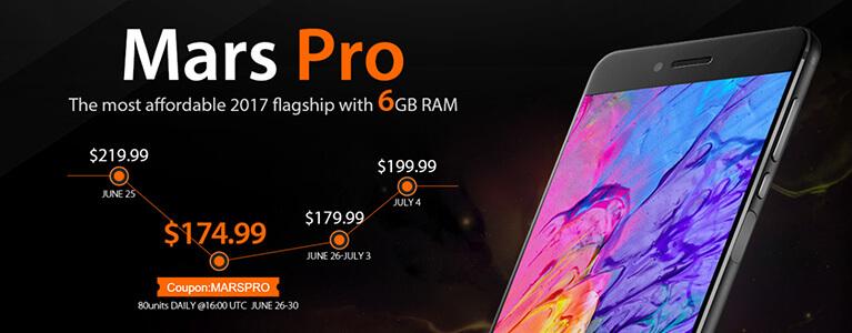 6GB RAM搭載のVernee Mars Proが26日よりセール開始。毎日80台が$174.99に