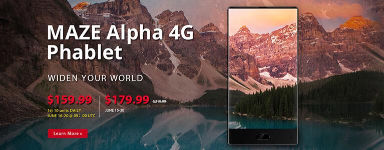 3辺ベゼルレスのMAZE AlphaがGearBestでセール中。4GB RAM・64GB ROMで$179.99