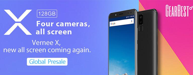 両面デュアルカメラに6インチ18:9ディスプレイのVernee Xがプレセール。6GB/128GBと高スペック