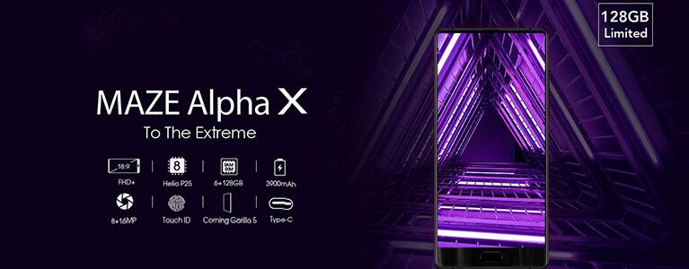 """GearBest独占販売のMAZE Alpha Xがセールで28717円に。6GB/128GBに18:9の6""""大画面"""