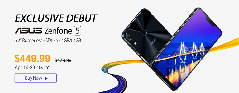 GearBestでASUS ZenFone 5が48,909円最安セール中。S636搭載・6.2インチでLTE B19対応
