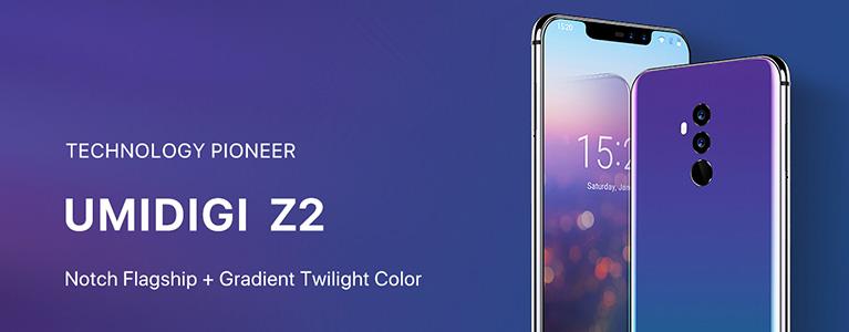 UMIDIGI Z2がセールで$249.99に。6.2インチで画面占有率90%、LTE B19対応