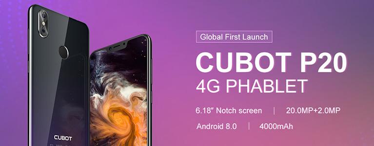 """1万円台で6.18""""ベゼルレス。Android 8.0&4000mAhバッテリー搭載のCUBOT P20"""