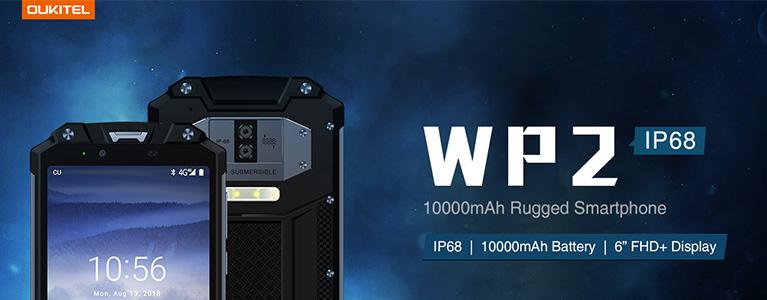 タフネススマホOUKITEL WP2が発売。強力LEDライトに10,000mAhバッテリー搭載