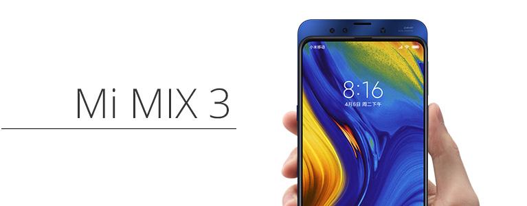 スライド式全画面スマホMi MIX 3グローバル版黒が$509.99。中国版と違い6GBでもカラバリに青が!