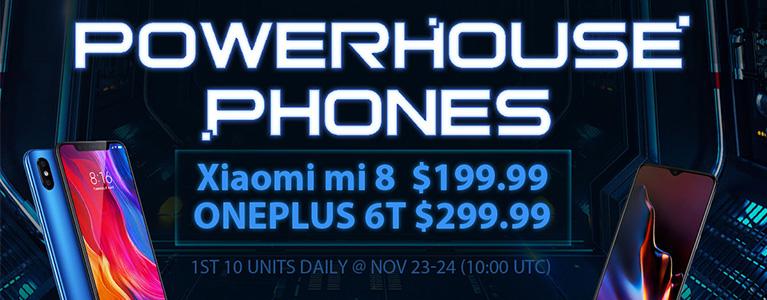 GearBest、ブラックフライデーセールを21日16時開始。OnePlus 6Tが$299.99、Mi 8が$199.99など大特価に