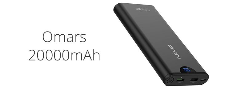 Omars USB-C モバイルバッテリー20000mAh・USB PD 45Wレビュー。重いが入出力は超高速【25%オフ】