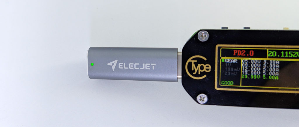 LEDで通電確認