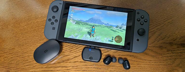無線イヤホンをNintendo Switchで。USB PD・aptX LL対応Bluetoothトランスミッター