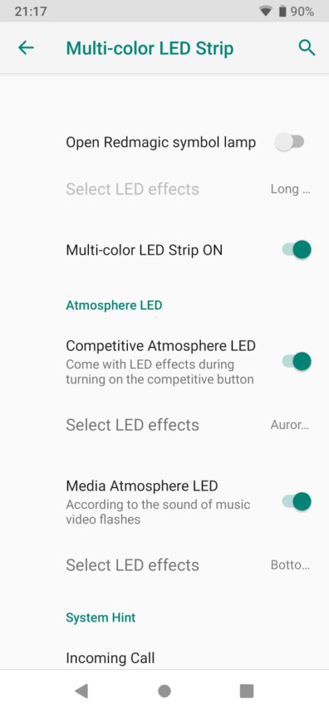 LED設定