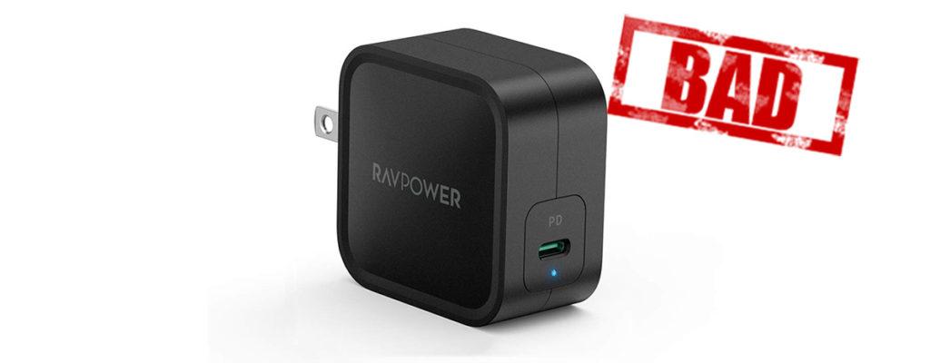【規格違反】世界最小USB PD 61W充電器RAVPower RP-PC112レビュー。軽量コンパクトで持ち運びに便利