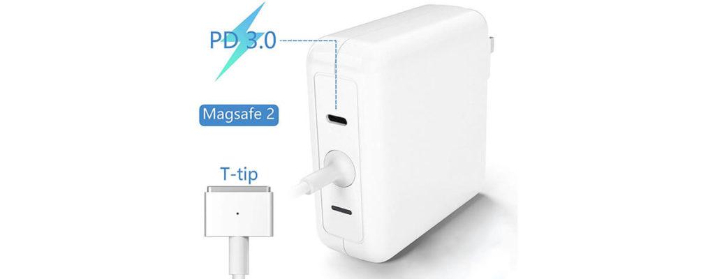 【規格違反】Anikks 60W MagSafe 2 + USB Type-C充電器レビュー