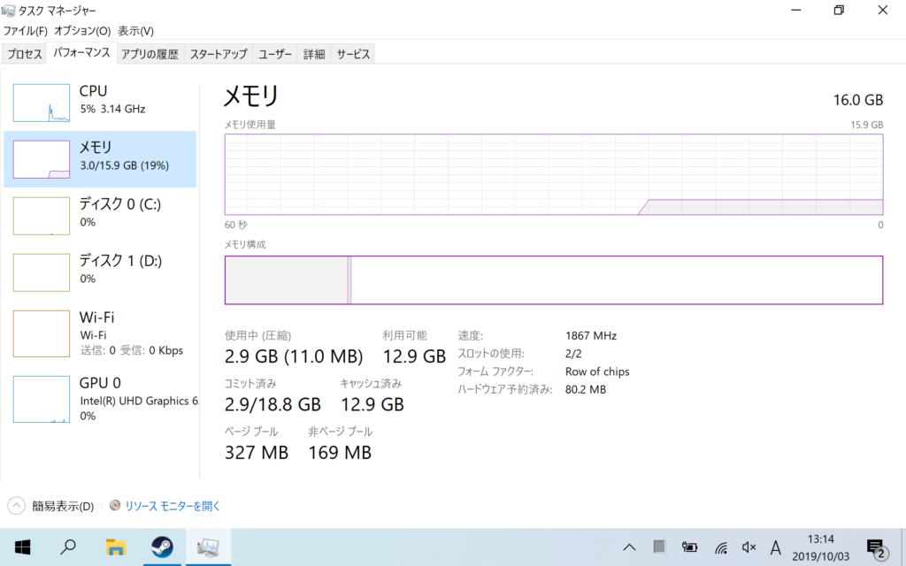 16GB メモリ