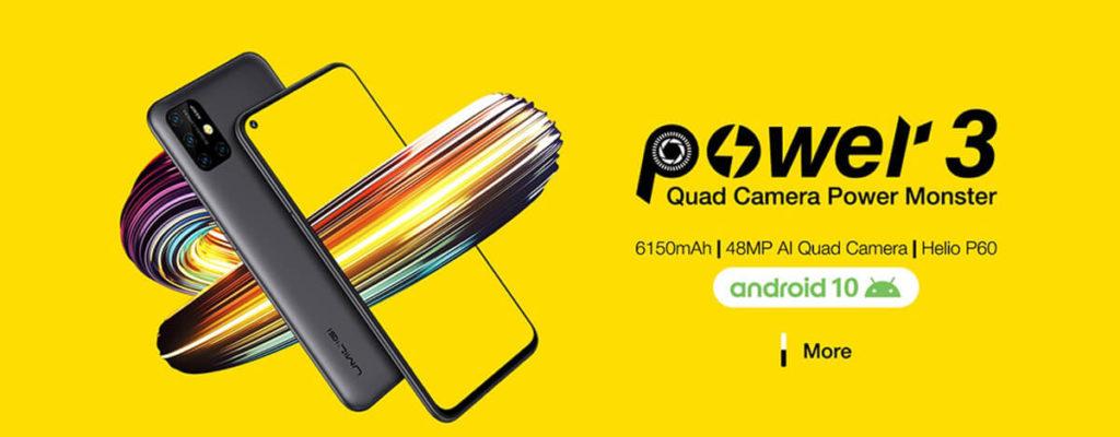 6150mAhバッテリーで2万円のUMIDIGI Power 3発表。48MPカメラにFHD+、Android 10搭載