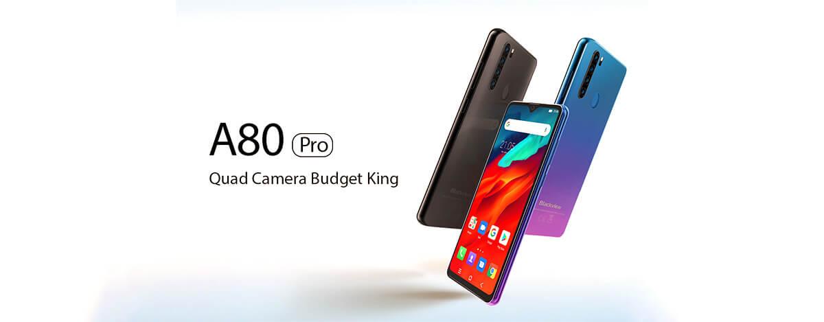 LTE B19対応で8700円!Blackview A80 Pro、4GB+64GBにUSB Type-C搭載で激安価格に
