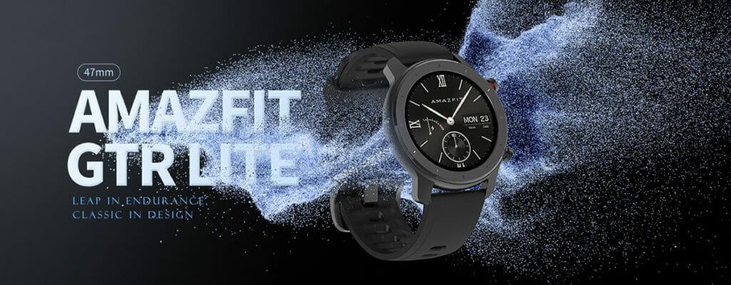 Amazfit GTR Lite 47mm、12,209円で登場。24日の電池持ちに円形AMOLEDディスプレイ