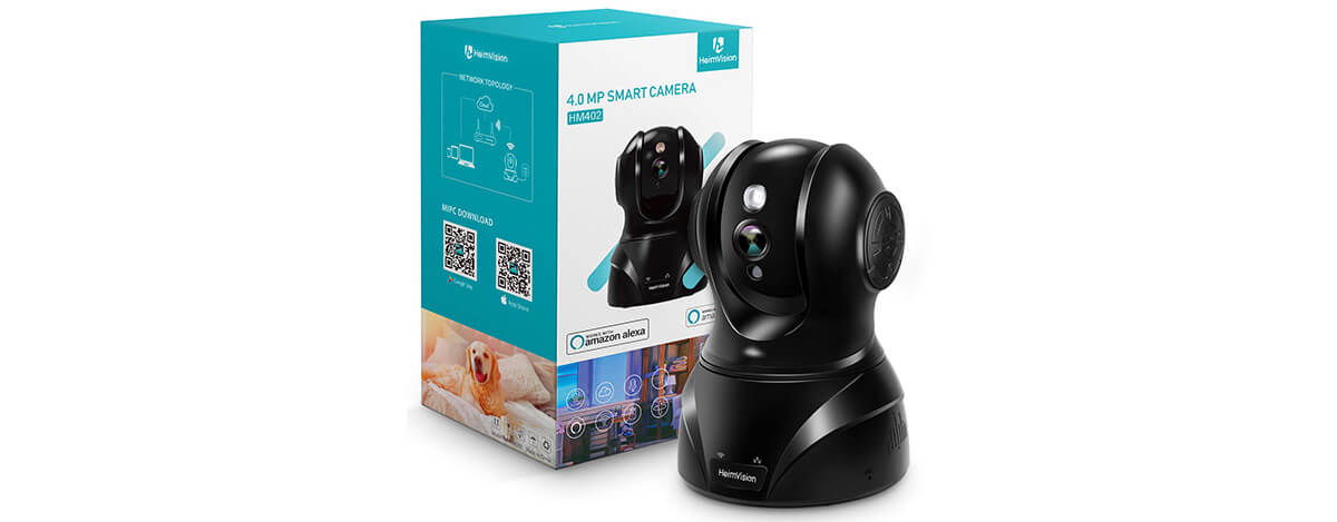 HeimVision 400万高画素ネットワークカメラレビュー。動体検知に暗視、通話機能も