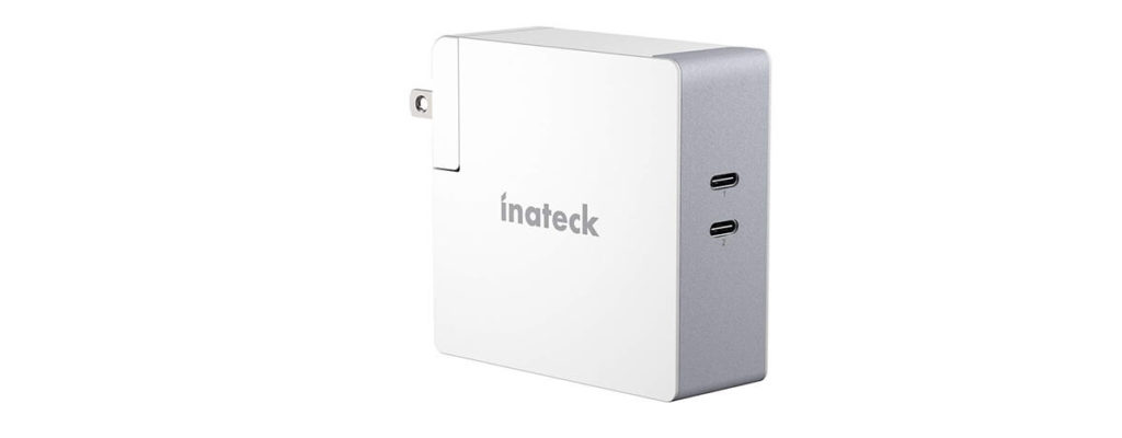 Inateck 60W デュアルUSB-C充電器レビュー。格安なのに2ポートで45W+15W同時充電も