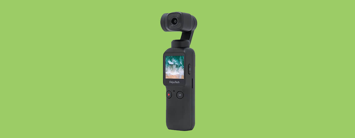 Feiyu Pocket 6軸ジンバルカメラが17,813円。120°広角、4K/60fps動画を撮影可能