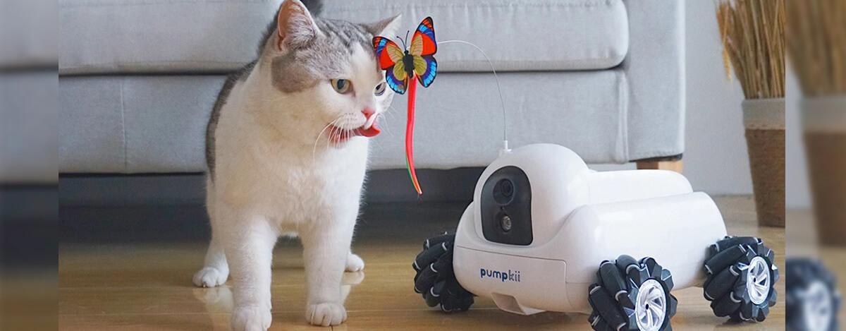 ペットのお世話ロボットPumpkiiが1.6万円!餌やりから掃除や監視もできるモジューラー式