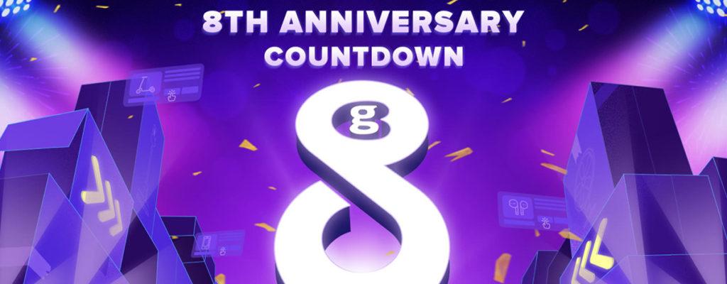 GeekBuying、8周年記念セール開催。$188相当のクーポン、Oneplus 8 Proは$986.99に