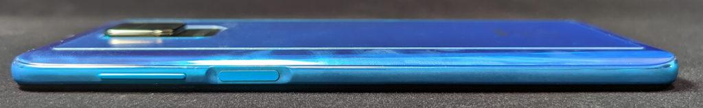 側面の指紋認証センサー