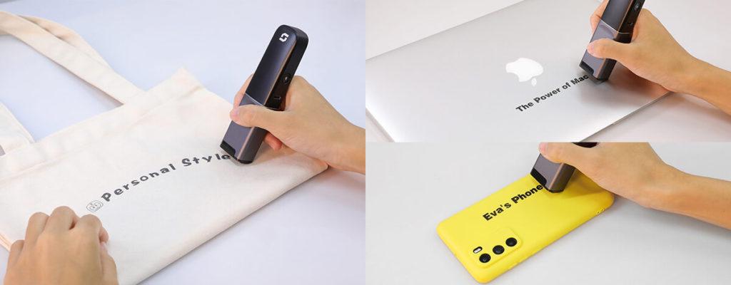 何でもどこでも印刷できるSelpic P1、1万円。エコバッグ、スマホケースにMacBookへプリントも