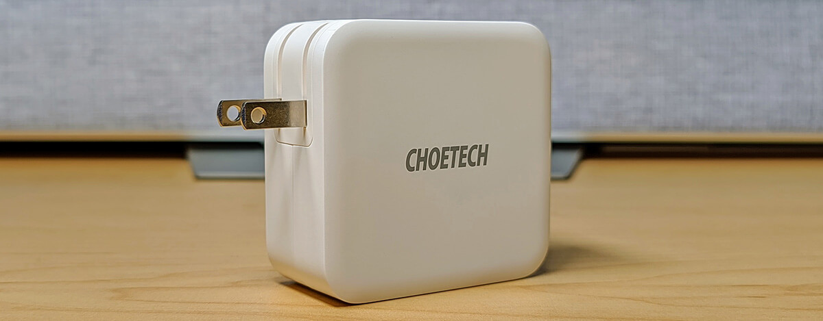 CHOETECH USB PD 100W充電器レビュー。4千円台でコンパクトなのにUSB-C x2、45W+45Wも