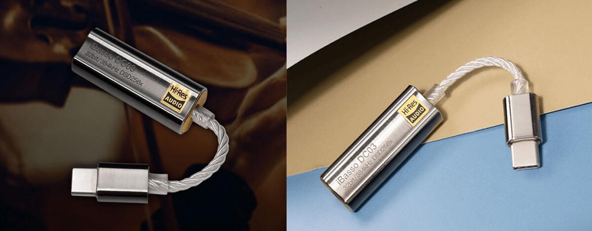 iBasso DC03 USB-C to 3.5mm変換アダプタ発売。デュアルCS43131 DAC、ノイズフロア
