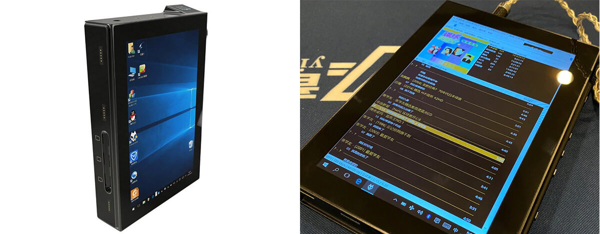 人類には早すぎる? 世界初Windows 10搭載DAP YinLvMei W1登場。デュアルAK4499、7インチ+0.66インチ2画面で900g