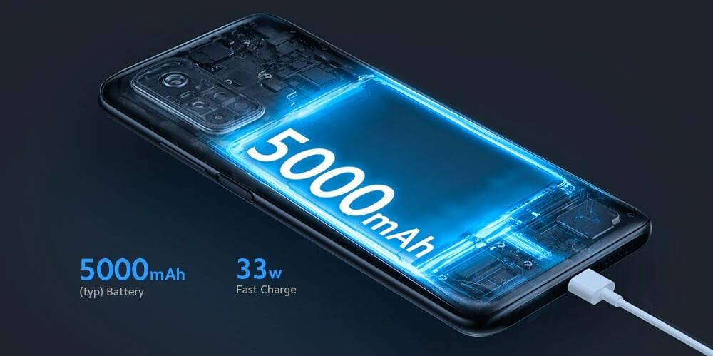 5000mAhバッテリー