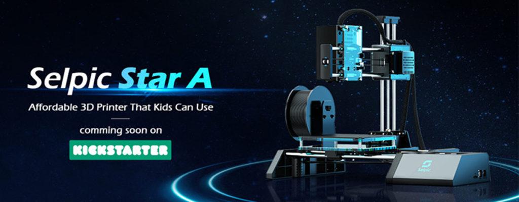 たった$119の3DプリンターSelpic Star Aが登場!軽量小型で初心者向き