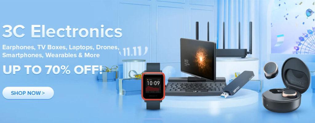 GeekBuying 11.11セールで$20オフクーポン配布中。BTスピーカーやレトロゲーム機が安い