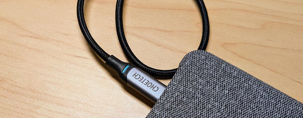 CHOETECH 100W/5A対応USB Type-C to Type-Cケーブルレビュー。100W出せる1.8m2本セット