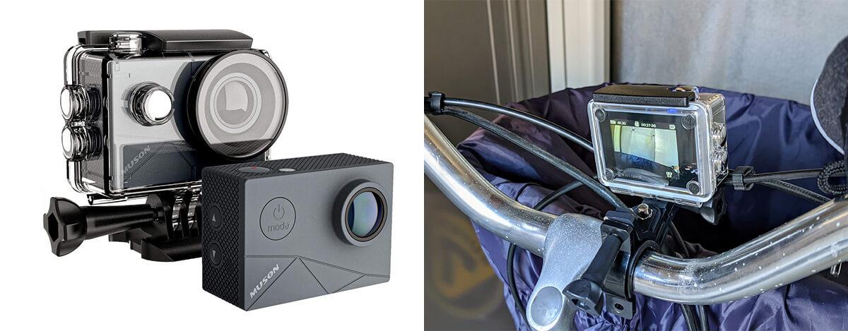MUSON MAX1 アクションカメラレビュー。EIS手ぶれ補正、外部マイク対応で最大4K@60fpsも