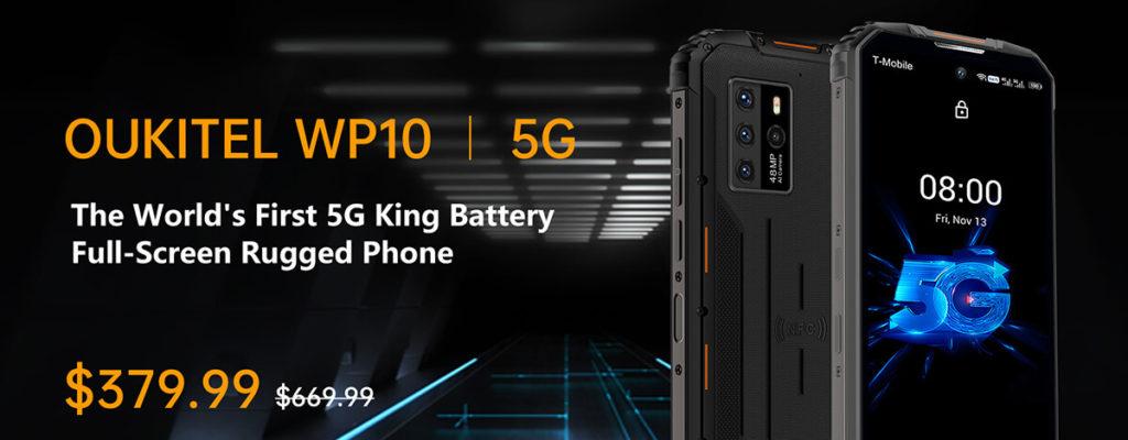 5GタフネススマホOUKITEL WP10 5GがBanggoodセールで$379.99に。S765Gに近い性能
