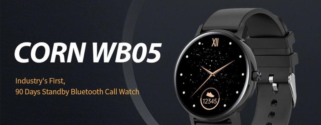CORN WB05 Bluetooth通話対応スマートウォッチが4,792円。最大90日の電池持ちにIP67防水