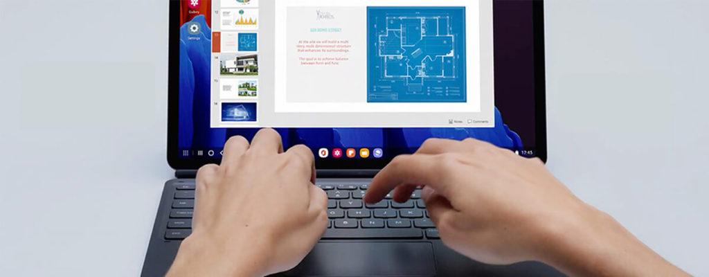 Galaxy Tab S7 / S7+ 純正キーボードケースが50%オフ。トラックパッド、Sペンホルダー付き