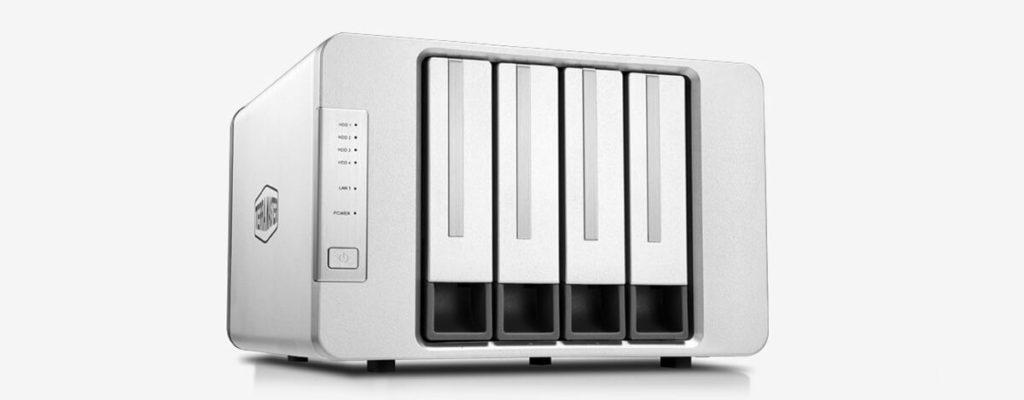 TerraMaster F4-422 10GbE対応の4ベイNASキット発売。Celeron・8GBメモリ搭載、Docker対応