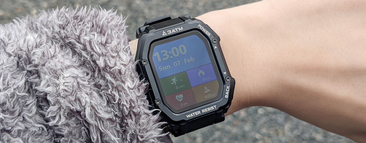 スマートウォッチKospet Rockレビュー。格安なのにSpO2・血圧計測に対応するタフネスウォッチ