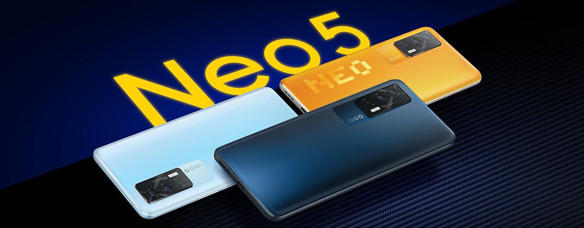 vivo iQOO Neo5発表。Snapdragon 870に120Hz AMOLED搭載、隠しカメラ検知機能も