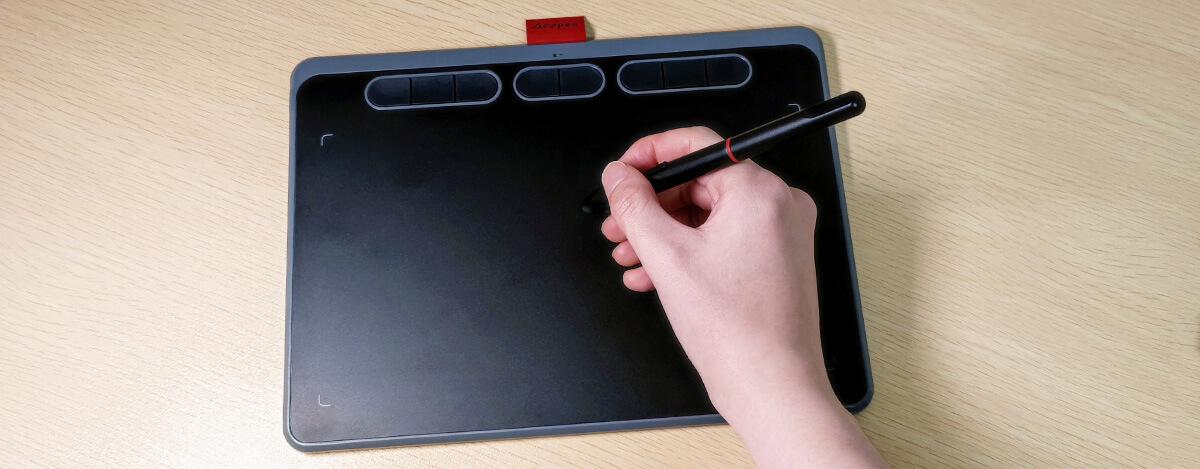 Acepen ペンタブレット レビュー。 充電不要のペンで8192段階の筆圧検知、USB Type-C接続