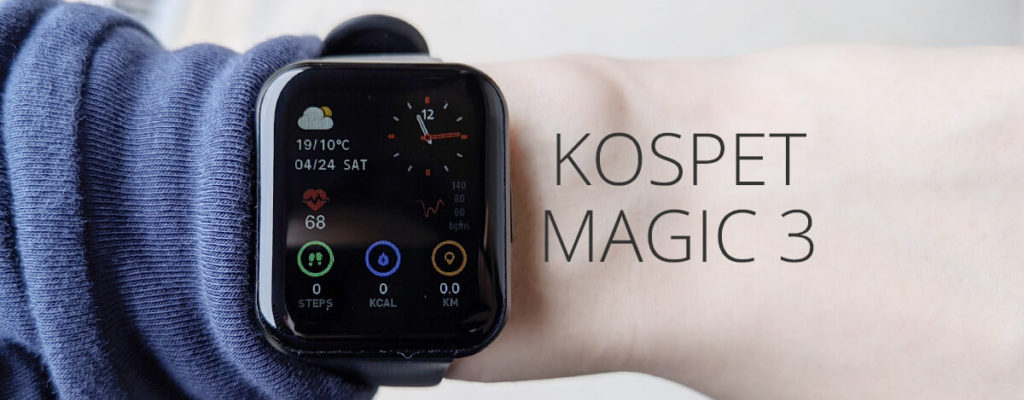 KOSPET MAGIC 3 スマートウォッチ レビュー。3千円台でSpO2や血圧計測対応、IP68防水