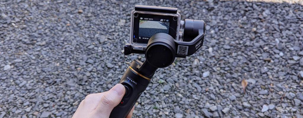 INKEE FALCON 3軸ジンバルレビュー。アクションカメラ専用、USB Type-C充電で重さ304g