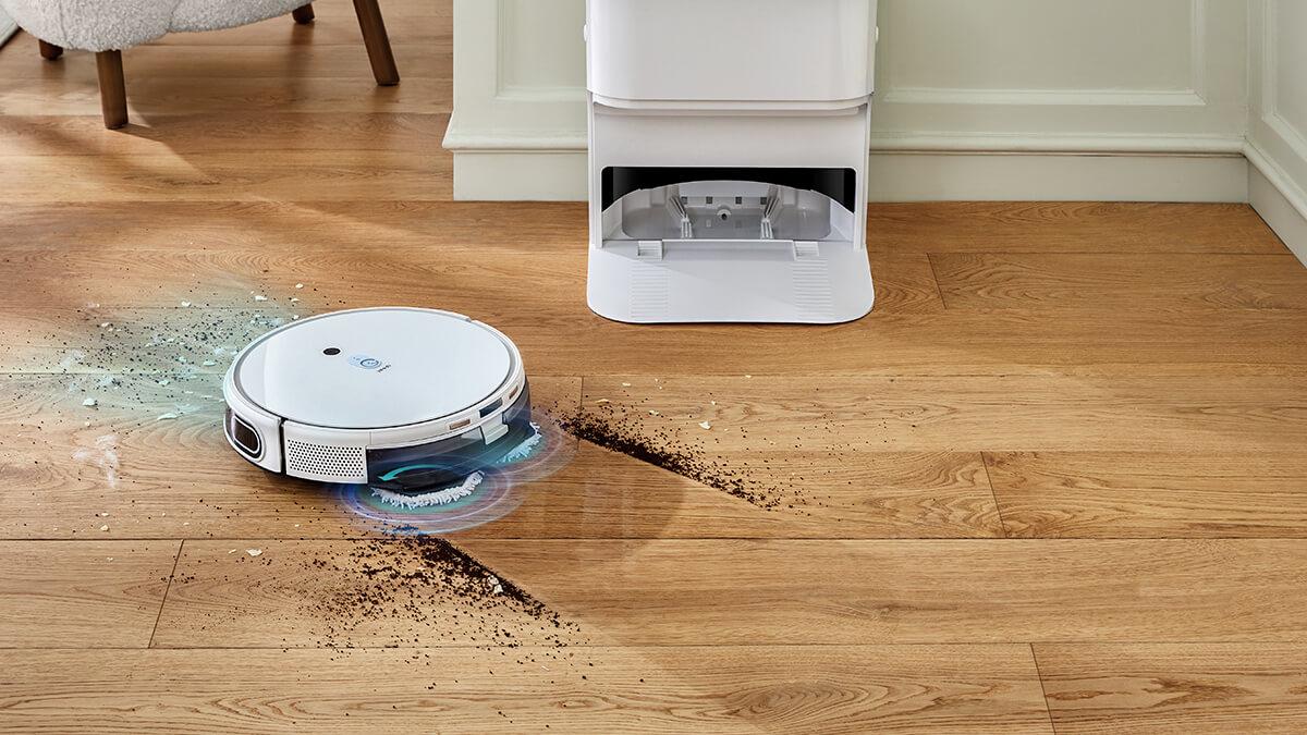 モップで水拭きできるロボット掃除機yeediモップステーションがMakuakeに登場、84,980円~